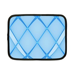 Background Light Glow Blue Netbook Case (small)