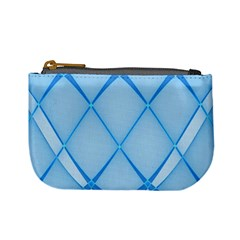 Background Light Glow Blue Mini Coin Purses