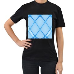 Background Light Glow Blue Women s T Shirt (black)