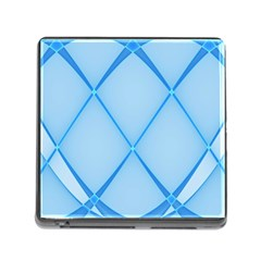 Background Light Glow Blue Memory Card Reader (square)