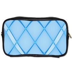 Background Light Glow Blue Toiletries Bags 2 Side