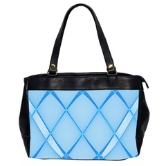 Background Light Glow Blue Office Handbags (2 Sides)