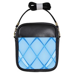 Background Light Glow Blue Girls Sling Bags