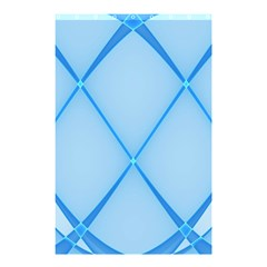 Background Light Glow Blue Shower Curtain 48  X 72  (small)