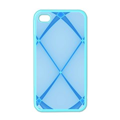 Background Light Glow Blue Apple Iphone 4 Case (color)