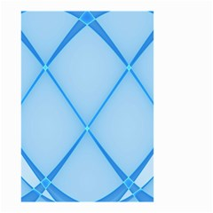 Background Light Glow Blue Small Garden Flag (two Sides)