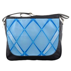 Background Light Glow Blue Messenger Bags
