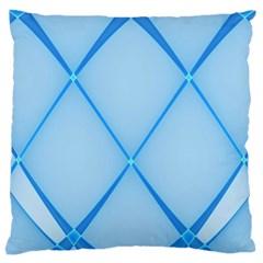 Background Light Glow Blue Large Cushion Case (one Side)
