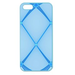 Background Light Glow Blue Apple Seamless Iphone 5 Case (color)