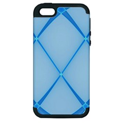 Background Light Glow Blue Apple Iphone 5 Hardshell Case (pc+silicone)