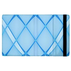 Background Light Glow Blue Apple Ipad 3/4 Flip Case