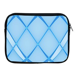 Background Light Glow Blue Apple Ipad 2/3/4 Zipper Cases