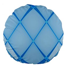 Background Light Glow Blue Large 18  Premium Flano Round Cushions