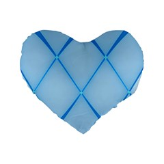 Background Light Glow Blue Standard 16  Premium Flano Heart Shape Cushions