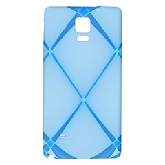 Background Light Glow Blue Galaxy Note 4 Back Case