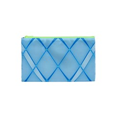 Background Light Glow Blue Cosmetic Bag (xs)