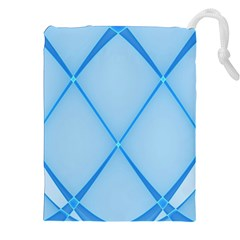 Background Light Glow Blue Drawstring Pouches (xxl)
