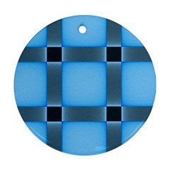 Wall Blue Steel Light Creative Ornament (round)