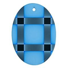Wall Blue Steel Light Creative Ornament (oval)