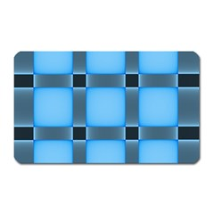 Wall Blue Steel Light Creative Magnet (rectangular)