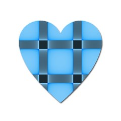 Wall Blue Steel Light Creative Heart Magnet