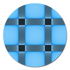 Wall Blue Steel Light Creative Magnet 5  (round)