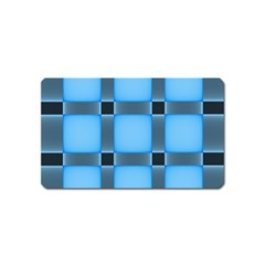 Wall Blue Steel Light Creative Magnet (name Card)