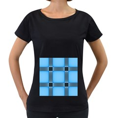 Wall Blue Steel Light Creative Women s Loose Fit T Shirt (black)