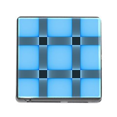 Wall Blue Steel Light Creative Memory Card Reader (square)