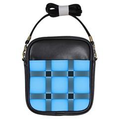 Wall Blue Steel Light Creative Girls Sling Bags
