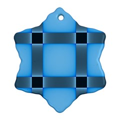 Wall Blue Steel Light Creative Ornament (snowflake)