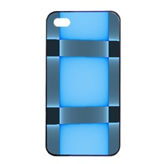 Wall Blue Steel Light Creative Apple Iphone 4/4s Seamless Case (black)