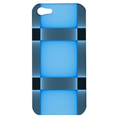 Wall Blue Steel Light Creative Apple Iphone 5 Hardshell Case