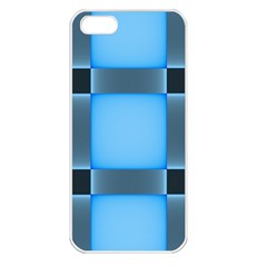 Wall Blue Steel Light Creative Apple Iphone 5 Seamless Case (white)