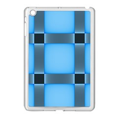 Wall Blue Steel Light Creative Apple Ipad Mini Case (white)