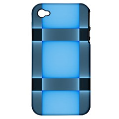Wall Blue Steel Light Creative Apple Iphone 4/4s Hardshell Case (pc+silicone)