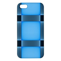Wall Blue Steel Light Creative Apple Iphone 5 Premium Hardshell Case