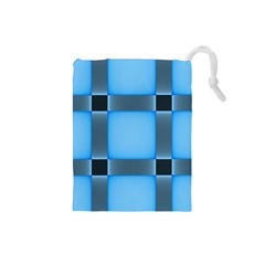 Wall Blue Steel Light Creative Drawstring Pouches (small)