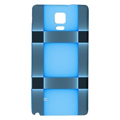 Wall Blue Steel Light Creative Galaxy Note 4 Back Case