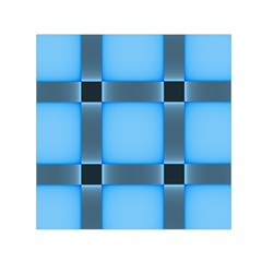 Wall Blue Steel Light Creative Small Satin Scarf (square)