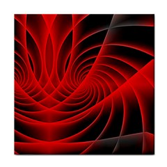 Red Abstract Art Background Digital Tile Coasters