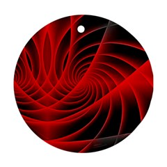 Red Abstract Art Background Digital Ornament (round)
