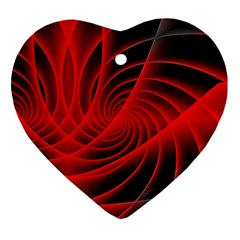 Red Abstract Art Background Digital Ornament (heart)