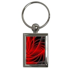 Red Abstract Art Background Digital Key Chains (rectangle)
