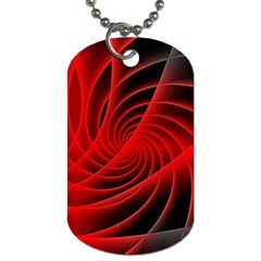 Red Abstract Art Background Digital Dog Tag (two Sides)