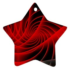 Red Abstract Art Background Digital Star Ornament (two Sides)