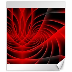 Red Abstract Art Background Digital Canvas 8  X 10