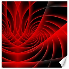 Red Abstract Art Background Digital Canvas 20  X 20