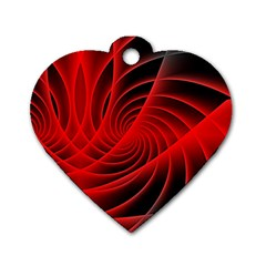 Red Abstract Art Background Digital Dog Tag Heart (two Sides)