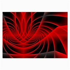 Red Abstract Art Background Digital Large Glasses Cloth (2 Side)